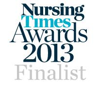 Nursing Times Awards 2013 - Finalist